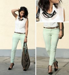 MINT pants  BY MILAGROS P., 30 YEAR OLD FASHION BLOGGER & FREELANCE STYLIST FROM LIMA
