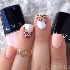 50 Leopard Nail Art Ideas-Leopard prints are a trend nowadays. From clothes to shoes to bags and even to nail art designs, they have been… Leopard Nail Art, Leopard Print Nails, Leopard Prints, Animal Prints, Leopard Nail Designs, Nail Art Designs 2016, Cute Nail Designs, Great Nails, Love Nails