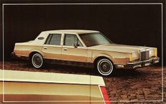 1982 Lincoln Mark VI Pucci Designer Series. My Mom had one of these, called it the yellow submarine