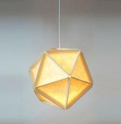 origami lampenschirm eine gefaltete origami lampe