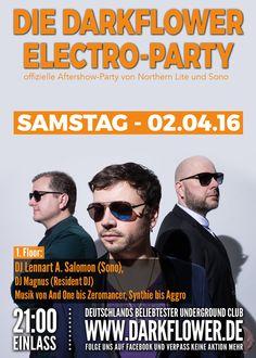 Samstag, 02.04.16 - http://darkflower.club/blog/events/dj-lennart-a-salomon-sono-darkflower-electro-party