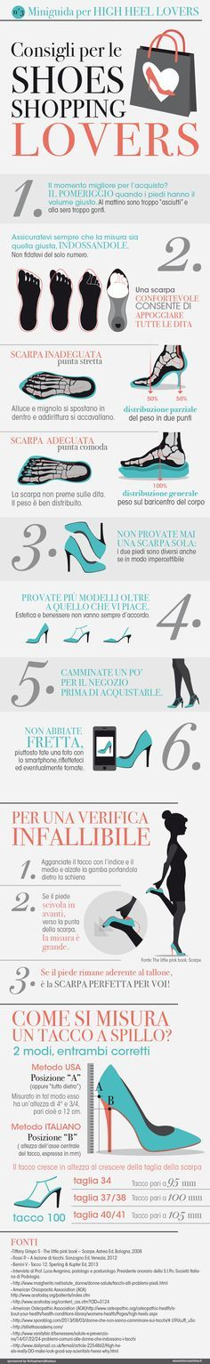 Consigli per le Shoes Shopping Lovers - infographics designed for…