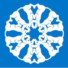 dog paper snowflake Paper Snowflake Patterns, Snowflake Template, Paper Cutting Patterns, Snowflake Cards, Paper Snowflakes, Snowflake Designs, Paper Stars, Animal Noses, Snow Flakes Diy
