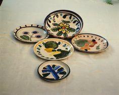 pratos de cerâmica de Aldemir Martins, 1965