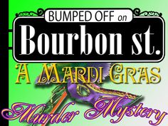 Mardi Gras Murder Mystery Party - Bumped Off on Bourbon Street - Instant Download