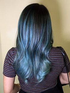 Sometimes feeling blue is a good thing! Nice work by Brittany at Escape Salon Claremont.
