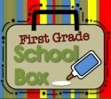 First Grade School Box - Teacher Blog with a great idea for the first day of school picture frames