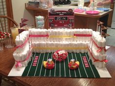 Football Stadium Diaper Cake
