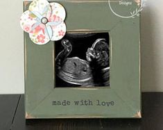 Ultrasound Frame Distressed Frame New Baby Frame Grandparent Frame
