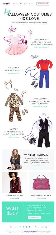 thred up DIY halloween costumes kids love
