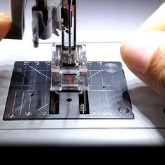 A quick video tip showing how to use the BERNINA needle threader. #BERNINA #SewingTip