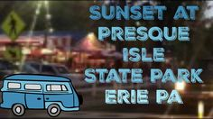 Sunset drive from Presque Isle State Park, Erie PA: Back to the 1950's