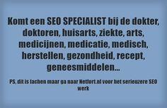 Komt een SEO specialist bij de dokter Seo, Marketing, Google