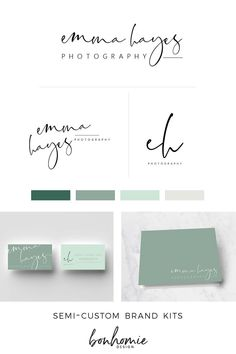 a casual handwritten script branding kit for your business! semi-custom design, sold only once and ready for you in 10 days! by @bonhomiedesign #branding #creativebranding #custombranding #scriptbranding #photographerbranding #bloggerbranding