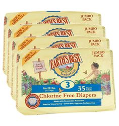 Multipack Earth's Best Disposable Nappies (4 pack)