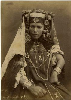 North Africa | Bou Saada woman. Algeria. ca. 1870
