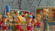 Simpsonovci Rodina Retro Hračky Kinder Surprise Vajíčka 2008