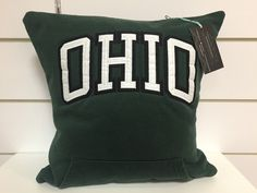 A personal favorite from my Etsy shop https://www.etsy.com/listing/278167450/ohio-universitybobcats-sweatshirt-pillow