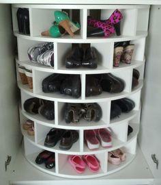 Lazy Susan for shoes! GENIUS!