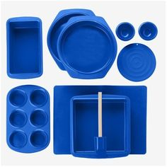 Silicone Solutions 10-pc. Bake-and-Serve Set - Blue.