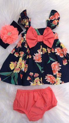 Fashion Kids Girl Dress Sew 44 Super Ideas - Baby Girl Dress - Ideas of Baby Girl Dress Baby Outfits, Little Girl Outfits, Little Girl Fashion, Baby Girl Dresses, Kids Outfits, Kids Fashion, Womens Fashion, Usa Baby, Baby Baby