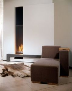 contemporary built-in fireplace (gas closed hearth) VERTICAL BELL LARGE Bellfires