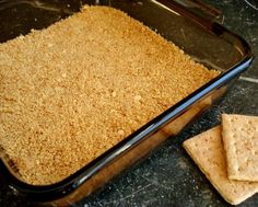 graham cracker crust microwave recipe  (*doesn't have sugar in the recipe, like most graham crusts, but might be worth trying)