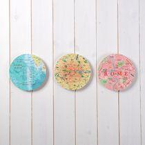 Bespoke Trio Map Circles Wall Art - New