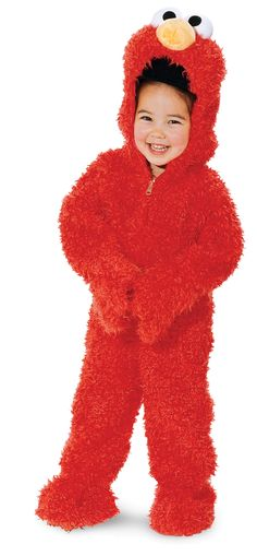 Diy no sew elmo halloween costume recipe holiday favorites sesame street elmo plush deluxe toddler costume elmo costume toddler 3t 4t solutioingenieria Choice Image
