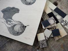 Collection Bois Atelier Mouti #ébénisterie #illustration #artisanal