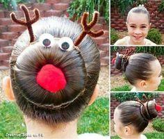 Reindeer bun @Keely Gault Keane