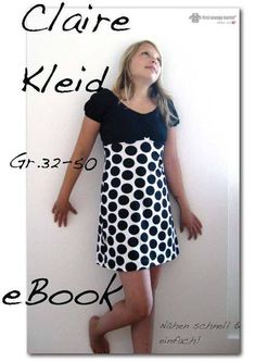 Claire♡ 3x Kleid E-Book Nähanleitung Schnittmuster von first lounge berlin     Einzigartige Ebooks Nähanleitungen mit Schnittmuster ♥ Auch für Nähanfänger  auf DaWanda.com