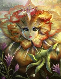 Fantasy game art by Mictones Art And Illustration, Fantasy Artwork, Fantasy Kunst, Cartoon Flowers, Ouvrages D'art, 5d Diamond Painting, Cross Paintings, Fairy Art, Fantasy Creatures