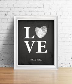 Love Fingerprint Heart Wedding Guest Book  we ❤ this!  moncheribridals.com  #weddingguestbook #thumbprintguestbook