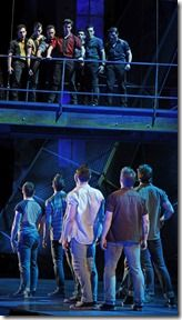 "It's the classic tale of the Sharks versus the Jets in Paramount Theatre's ""West Side Story"" by Leonard Bernstein and Stephen Sondheim, directed by Jim Corti. (photo credit: Liz Lauren)"