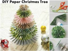 """ DIY Paper Christmas Tree Are you putting up a Christmas tree this year? If you are then you might want to consider making one of these handmade Christmas trees out of paper. They are..."