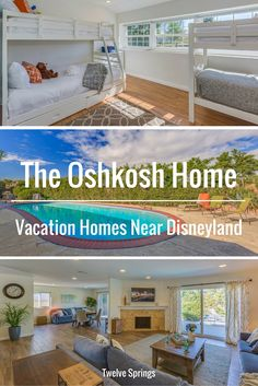 Beautiful and affordable vacation home near Disneyland.   The Osh Kosh Home by Twelve Springs is 5 bedrooms, 3 bathrooms, with a game room and private pool.