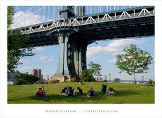 Park under the Brooklyn Bridge photo by Donald Peterson