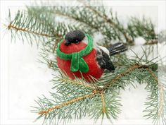 Мыло объемное Снегирь 3Д - Объемный, фактурный, большой снегирь, символ зимы - оригинальный подарок к новому году!