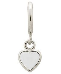 Endless Sterling Silver Heart Drop with White Enamel Charm