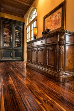 floor - Mediterranean Dining Design Ideas, Pictures, Remodel and Decor Dining Rooms, Dining Area, Kitchen Dining, Tuscany Decor, Tuscan Style Homes, World Decor, Mediterranean Style, Reno Ideas, Dream Rooms