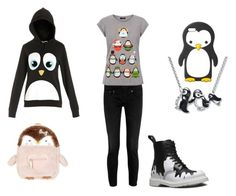 """""""Penguin"""" by lunatheumbreon ❤ liked on Polyvore featuring MANGO, R13, Dr. Martens, Accessorize, women's clothing, women's fashion, women, female, woman and misses"""