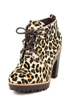 Women's Sperry Top Sider Princeton Ankle Boot in Leopard  Pony Sexy tie lace up #SperryTopSider #FashionAnkle