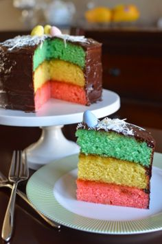 Playing with Flour: Tri-color cookie (Easter) cake