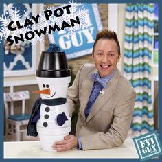 Bilderesultat for terra cotta pot snowman Flower Pot Art, Clay Flower Pots, Flower Pot Crafts, Clay Pot Projects, Clay Pot Crafts, Diy Clay, Flower Pot People, Clay Pot People, Snowman Crafts