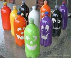 same idea for bowling, only Halloween specific - like these a lot!