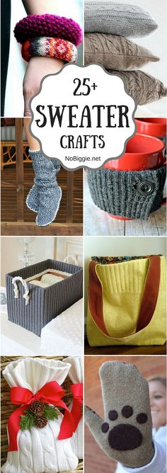 Trendy diy clothes upcycle recycling old sweater Ideas Fabric Crafts, Sewing Crafts, Sewing Tips, Sewing Tutorials, Sewing Box, Sewing Ideas, Old Sweater Crafts, Pullover Upcycling, Reuse Clothes