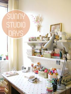 studio details : sunny studio days by © emma lamb Sewing Spaces, Sewing Rooms, Room Of One's Own, My New Room, Craft Room Desk, Craft Rooms, Space Crafts, Home Crafts, Craft Space