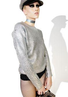 okaywowcool:    metallic sweater