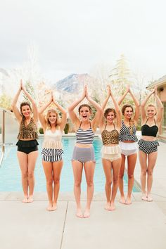 LOVE these swimsuits and LOVE the different body shapes, we are all beautiful in our own ways, NEVER compare yourself to somebody else, you will never be satisfied because being like somebody else is not possible. You are YOU, so work on YOU.